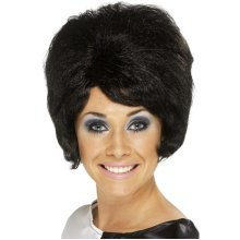 Smiffys Female 60s Beehive Wig -  wig beehive 60s fancy dress black ladies smiffys 1960s short 50s 70s mod