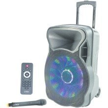 Portable PA Speaker 700w Bluetooth, SD Card, LED's Wireless Mic
