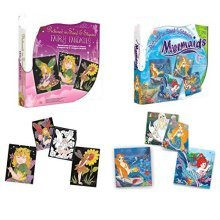 Pictured In Sand Or Sequin Mermaid And Fairy Magical Art Craft Kit -