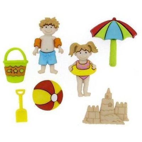 Day at the Beach- Novelty Craft Buttons & Embellishments by Dress It Up