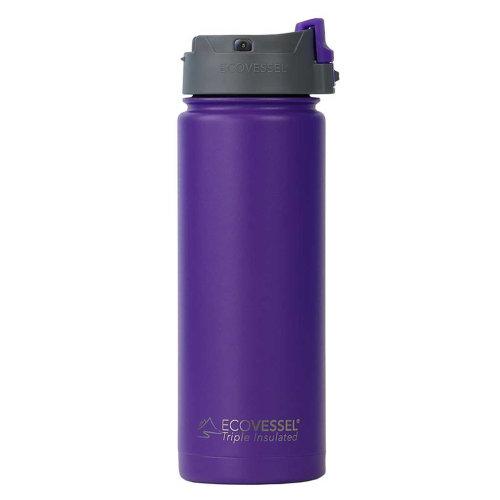 Ecovessel Perk 600ml Hot Cold Drinks Coffee & Tea Travel Mug Purple Haze