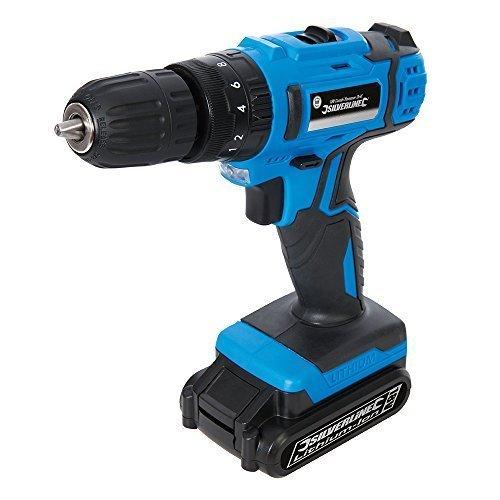 Silverline Diy 18v Combi Hammer Drill 18v - 946680 -  18v drill combi hammer silverline diy 946680