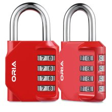 Resettable Security Locks Gym /& Sports Locker Blue Toolbox 4 Digit PadLock Employee Oria 2 Pack Combination lock Filing Cabinets etc. Anti Rust and Waterproof for School