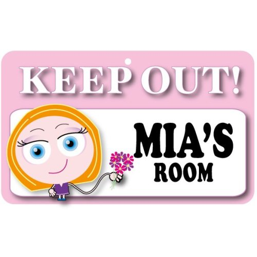 Keep Out Door Sign - Mia's Room