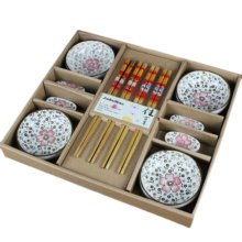 Wedding Business Gift Home Flatware Set Chopsticks/Holder/Dish 12PCS-Couple