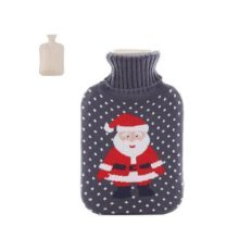 Christmas version Classic Hot water Bottle Transparent Rubber Cartoon Warm Bag Water spray #19