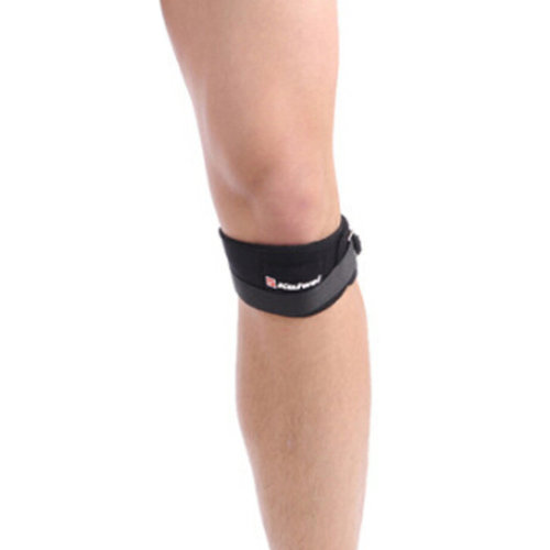 Set of 2 Sports Adjustable KneePads Knee Protector Quakeproof  Black