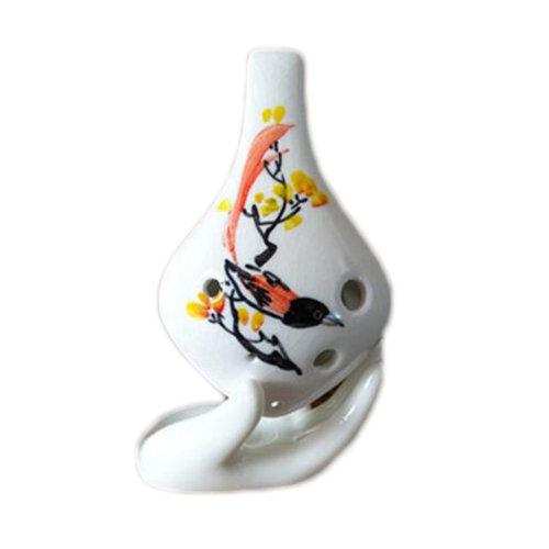 6 Hole Alto C Ocarina Ceramic Musical Instrument Beautiful Tone Beginners-014