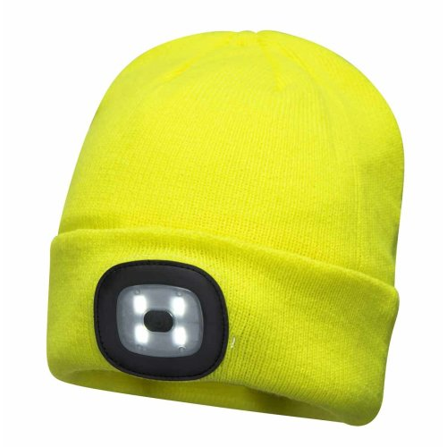 sUw - Unisex USB Rechargeable Twin LED Head Light Beanie