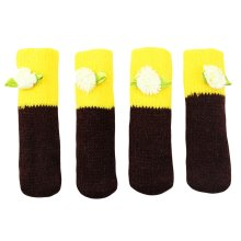 Chair/Table Leg Pad Small Furniture Knit Socks Floor Protector Set Of 4-C