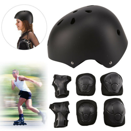 SKATEBOARD PROTECTION SET BIKE TOUGH HELMET KNEE ELBOW WRIST PADs KIDS NEW