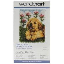 "Caron Wonderart Latch Hook Kit 15""X20""-Flower Pup"
