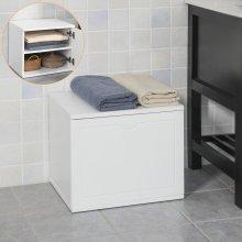 SoBuy® FSR46-W, Bathroom Storage Unit Storage Bench Chest Cabinet