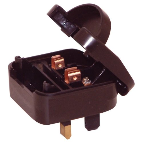 3 A Euro Converter Plug Non Earthed Shuko Euro Plug to 3 Pin UK Plug
