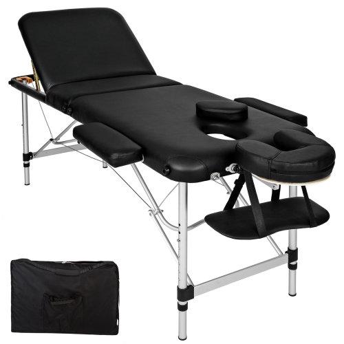 3-zone massage table aluminium 5 cm padding + bag black