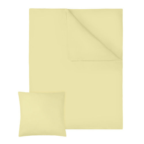 2 bedding sets 200x135cm cotton 2-piece yellow
