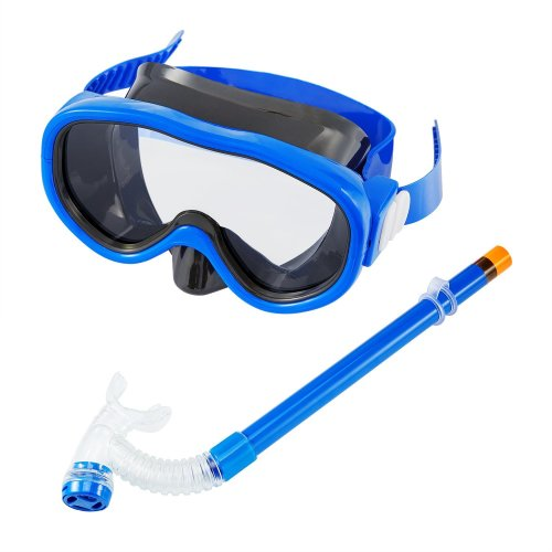 Kuyou Children Snorkel Set, Kids Swimming Goggles Semi-dry Snorkel Equipment with Breathing Tube for Boys and Girls Advanced Snorkeling Gear 5 to 8...