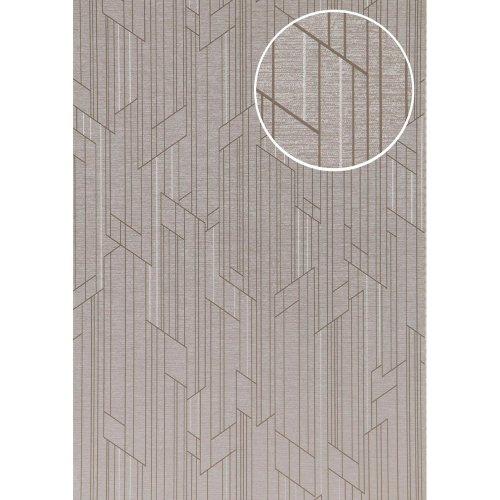 ATLAS XPL-565-6 Graphic wallpaper shimmering grey light grey 5.33 sqm