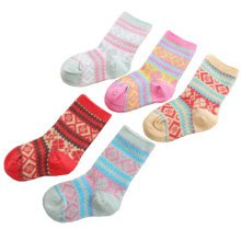 5 Pairs of Cozy Soft Socks Creative Wear Durable Cotton Socks Heartwarming kids Gifts?5-7 years