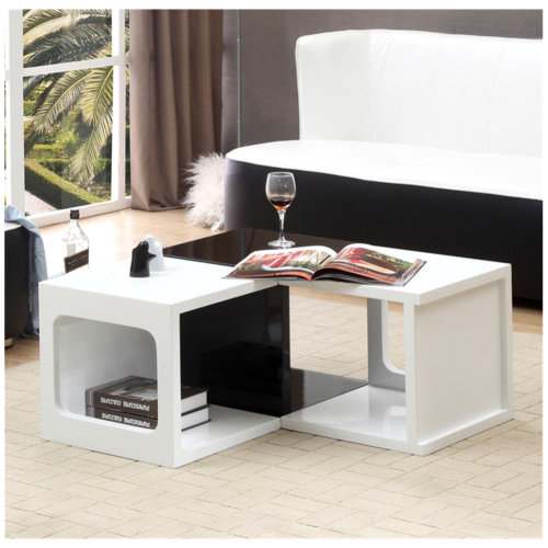 Square End Side Table Storage Multi Colours Bedside Table
