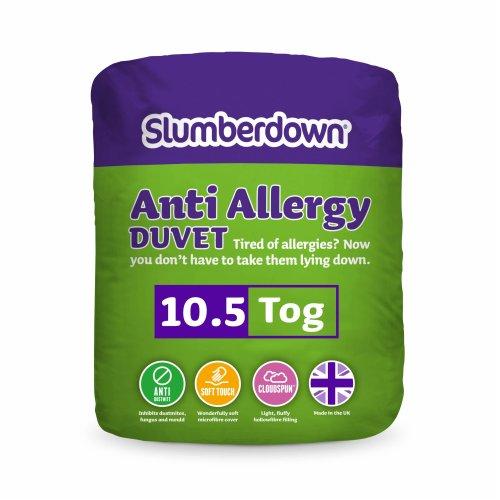Slumberdown Anti Allergy 10.5 Tog Duvet -Single Bed, White