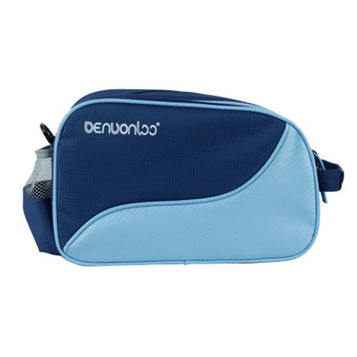 Premium Waterproof Table Tennis Racket Case PingPong Bat Cover Paddle Bag - Blue