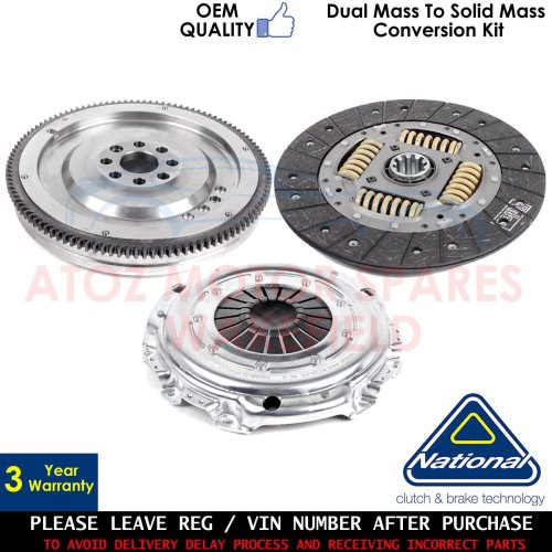 FOR MERCEDES SPRINTER 211 CDI DUAL TO SOLID MASS FLYWHEEL CLUTCH CONVERSION KIT