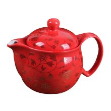 Porcelain Teapot with Stainless Steel Infuser Strainer