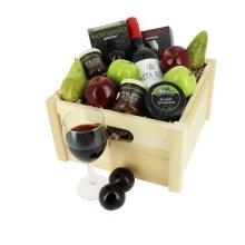 Deluxe Wine Cheese and Fruit Hamper