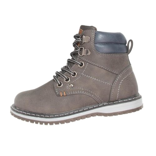 Xti Boys Grey Lace Up Boots