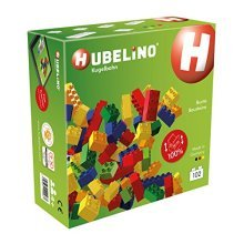 HUBELINO Marble Run - 102 Colorful Building Blocks - Made in Germany - 100% compatible with Duplo