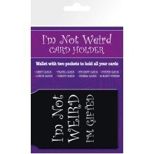I'm Not Weird I'm Gifted Travel Pass Card Holder