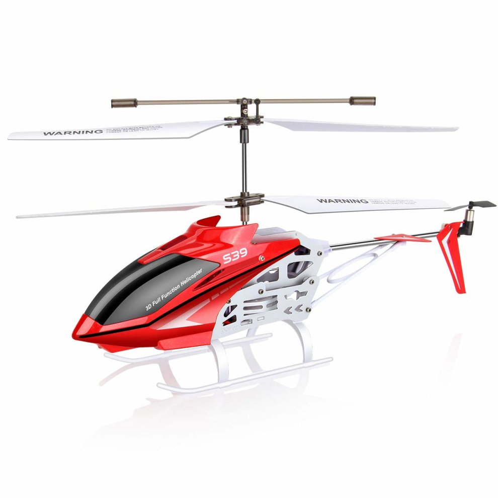DoDoeleph Syma S39 RC Helicopter with Gyro 3 5-Channel Remote Control Toy  Red