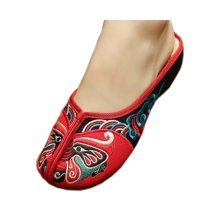 Womens Embroidered Summer Slippers Wedges Sandals Shoes for Cheongsam, #02
