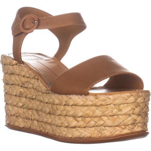 Dolce Vita Dane Wedge Sandals, Caramel Leather, 8 UK