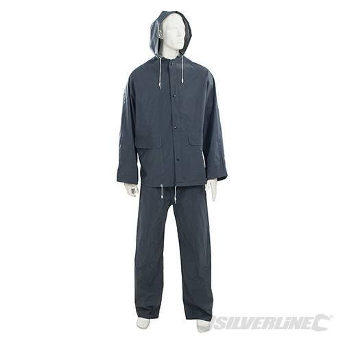 "Silverline Rain Suit Blue 2pce L 74 - 130cm (29 - 51"") - 29 51 380783 -  rain suit blue 29 silverline 74 130cm 51 2pce 380783"
