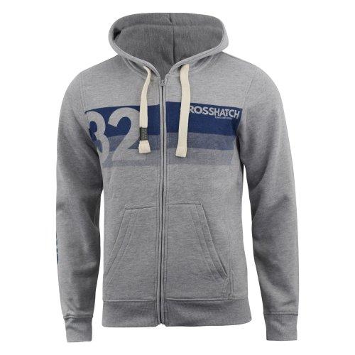 Mens hoodie crosshatch full zip kempworth