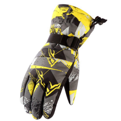 1 Pair Outdoor Winter Cycling Cold-proof Gloves Waterproof Skiing Gloves Warm Gloves,E