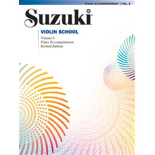 Alfred 00-44718 Suzuki Violin School Piano Acc., Volume 8 Revised