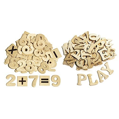 Pacon Wood Letters and Numbers