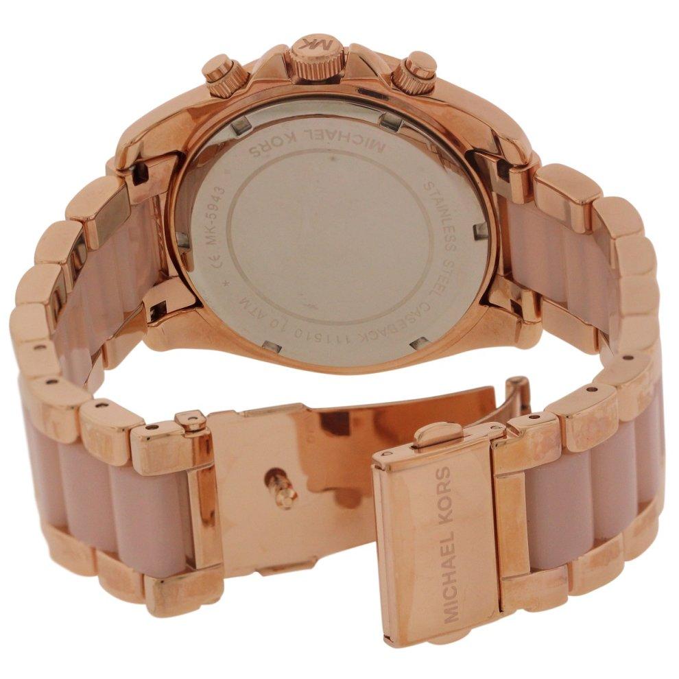 a81cf993526d ... Michael Kors Blair Rose Gold-Tone Chronograph Ladies Watch MK5943 - 1  ...
