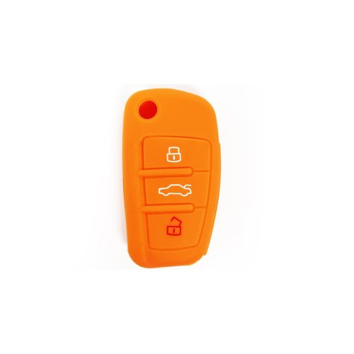 Lage Silicone Car Key Cover for Audi A1 A3 A4 A6 A8 TT Q5 Q7 R8 S4 S6, keyrings, gift idea