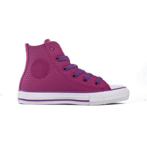 Converse Chuck Taylor All Star Rubber Hi Junior Girls Trainer Shoe Pink