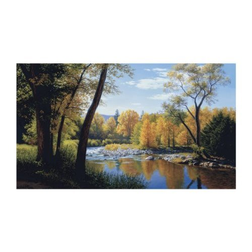 York Wallcoverings Lake Forest Lodge LM7991M When Summer Turns Autumn Mural Multi