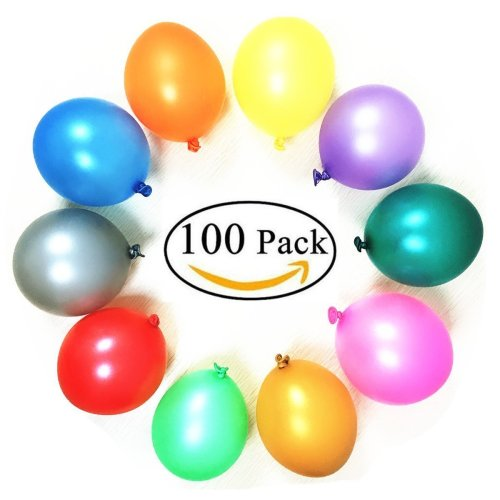 party balloons 100 helium quality latex 12 inches rainbow set 100