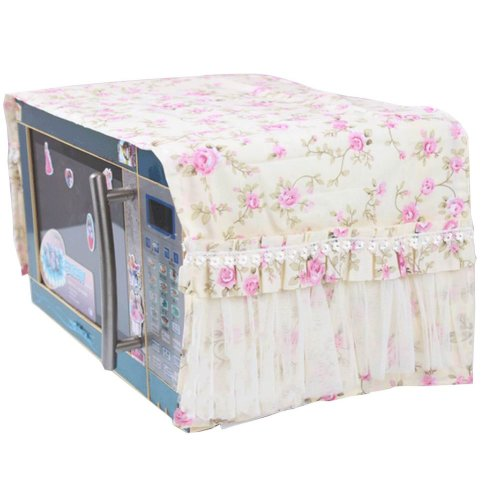 Flowers Lace Microwave Oven Dustproof Cover Dust Cover Covered Cloth