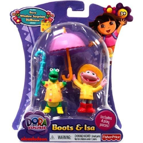 Dora the Explorer Action Figure Boots Isa in Rain Gear