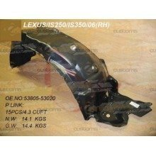 Lexus is 2005- Front Wing Arch Liner Splashguard Right O/s