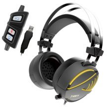 Gamdias HEBE Gaming Headset with Mic, 7.1 Sound, RGB Lighting, Vibration USB, Black