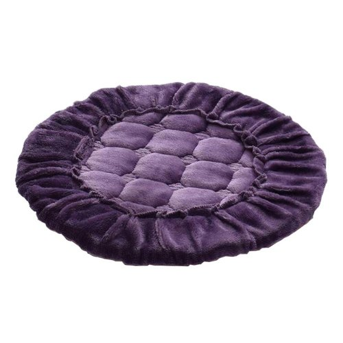 [S] Soft Flannel Round Stool Cover Bar Stool Seat Pad